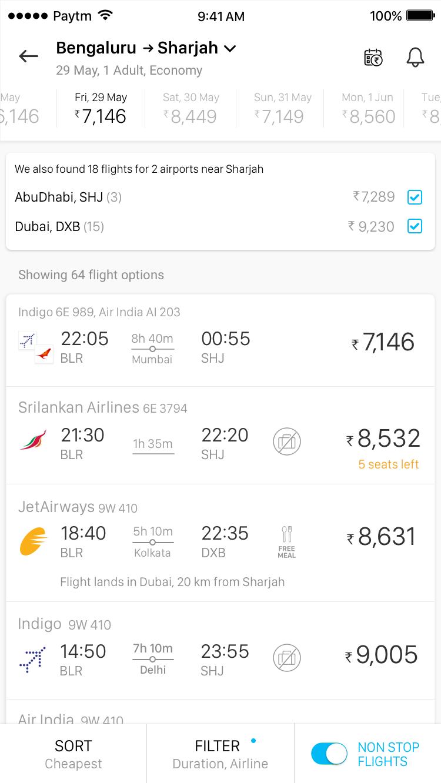 All airports Dubai